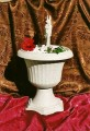 Dekorační fontána s egyptskou sochou Anubise