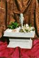 Dekorační fontána s egyptskou sochou Rachefa