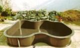 Zahradní plastové jezírko - typ č.1